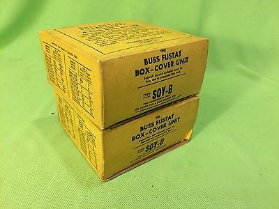 """BUSSMAN Fusetron Box-Cover Unit Type Soy-B Two Fuseholders for 4"""" Box 15A 125V"""