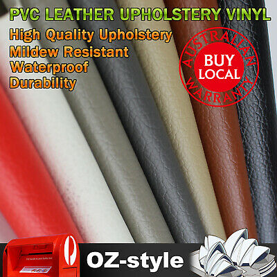 Auto Cars Upholstery Marine Grade PVC Leather Fabric Mildew Resistant 140cm Wide