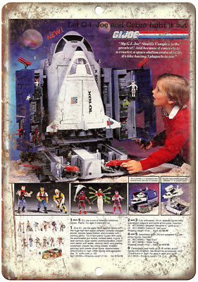 """GI Joe Space Shuttle Vintage Toy Ad 10"""" X 7"""" Reproduction Metal Sign J162"""