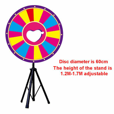 "24"" Floor Stand Color Dry Erase Prize Wheel + Stand Fortune Spinning Game"