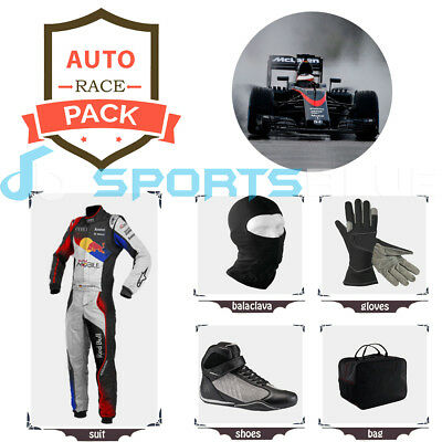 Audi redbull Go Kart suit (includes suit, gloves, balaclava) free bag - CIK/FIA