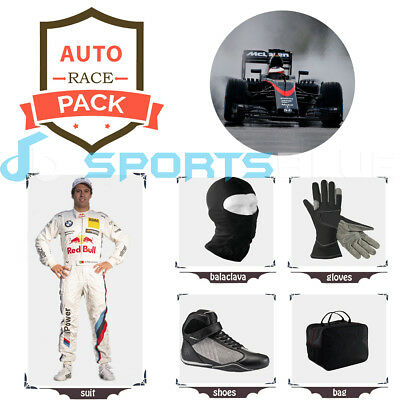 BMW Redbull Go kart race suit (includes suit, gloves,balaclava)free bag-CIK/FIA