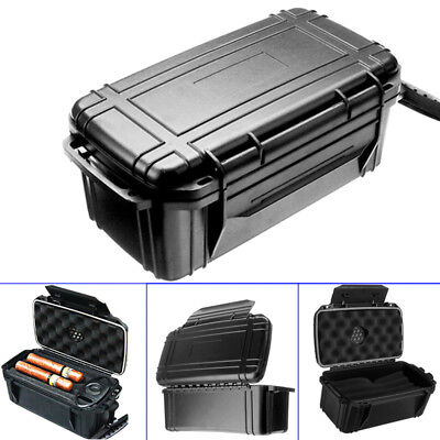 Waterproof Dustproof Shockproof 15 Cigar Case Box Home Travel with Humidor AU