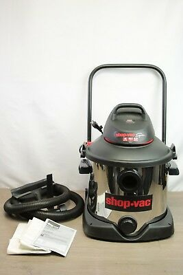 Shop Vac 8 Gallon Stainless Steel Wet/Dry Vacuum 4.0 Peak HP |1556