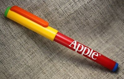 "APPLE Computer ""Rainbow w/Apple Logo"" Ballpoint Pen GERMANY 1980s"