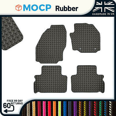 Custom Rubber Car Mats to fit Ford S-Max 5 Seater 2 Clips 2010-2011
