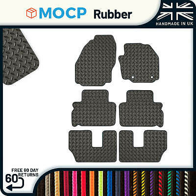 Custom Rubber Car Mats to fit Ford S-Max 7 Seater 2 Clips 2010-2011