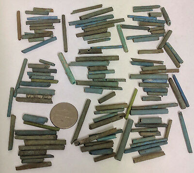 More than a Hundred 2500 Year old Ancient Egyptian Faience Mummy Beads (#G7502)