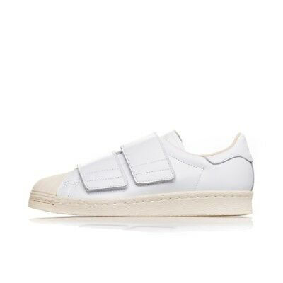 huge discount d390a c2b00 ADIDAS SUPERSTAR 80s CF CQ2447 bianche slip on logo fashion strappi velcro  limit