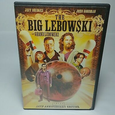The Big Lebowski 10th Anniversary Edition 2-Disc Set DVD 2008, Canada Release