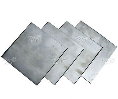 5 x Pure Zinc Zn Plate for Science Lab 100x100x0.2mm High Purity 99.99%