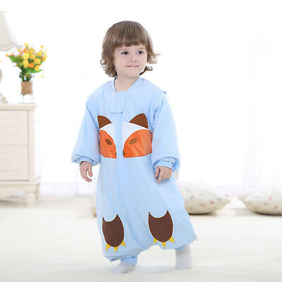 Baby Sleeping Bag Kids Toddler Cotton Warm Pajamas With Legs Sleepsuit Blanket