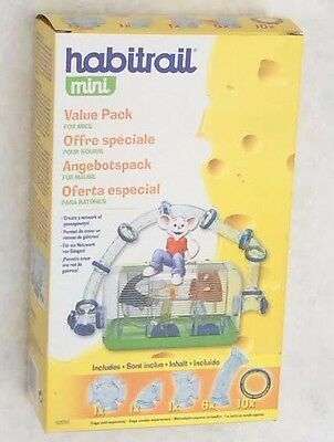 Habitrail Mini: Dwarf Hamster / Mouse add on tube pack for Ovo systems 62058