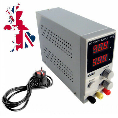 Variable Dual Adjustable Lab DC Bench Power Supply 0-30V 0-5A K305D Switching UK