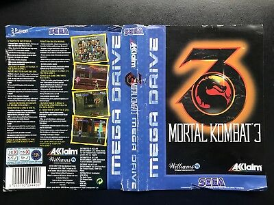 Original Sega Mega Drive Box / Case Cover - Mortal Kombat 3