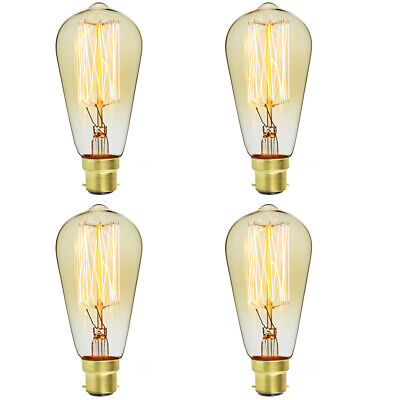 E27 UK Edison Bulb Filament Light Vintage Squirrel Cage Industrial ST64 B22 Home, Furniture & DIY