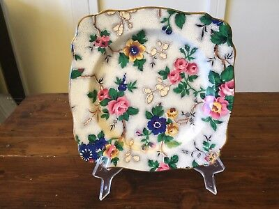 Vintage Crown Ducal All over Floral Plate (1)