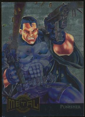 1995 Marvel Metal Blaster Gold Trading Card #9 Punisher
