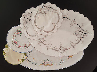 Bundle Of Vintage Doilies / Table Linen - High Tea, French Provincial, Collector