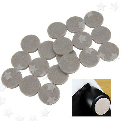 36x Furniture Floor Felt Round Pads Self Adhesive Wall Chair Scratch Protector