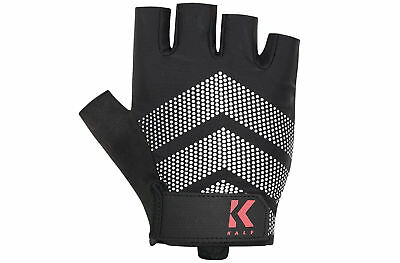 Kalf Mens Half Finger Abrasion Resistant Goat Leather Breathable Cycling Mitts