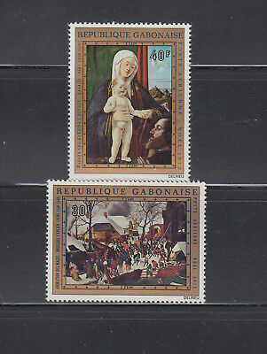 Gabon 1972 Christmas Paintings C132-C133 complete Mint Never Hinged