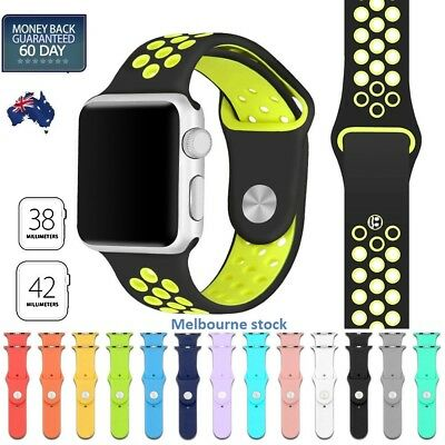 Sports Silicone Bracelet Strap Band Apple Watch iWatch Series 4/3/2/1 38/42MM