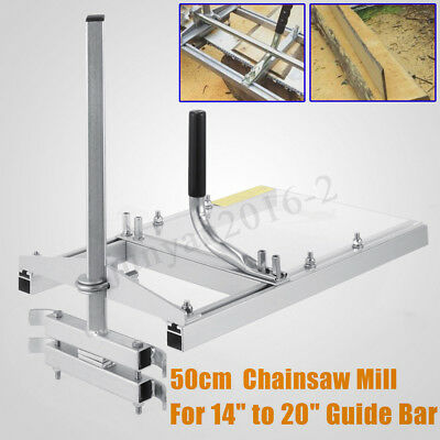 "20"" Mobile Chainsaw Mill Planking From 14 to 20'' Logger Wood Cutting Guide Bar"