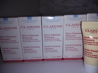 Clarins Gentle Foaming Cleanser With Shea Butter 5x5ml=25 ml.
