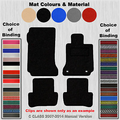 Tailored Fit Carpet Floor Mats For C Class 2007-2014 Manual Version