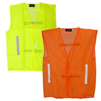 Hi Vis Visibility Summer Safety Mesh Vest | Yellow & Orange | CLEARANCE PRICE