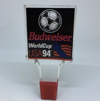 """VINTAGE Budweiser 6"""" ACRYLIC World Cup USA 94 Beer Tap Handle"""