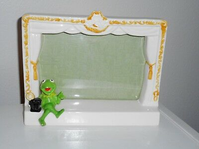 Muppet Kermit The Frog Ceramic Picture Frame Kermit On Stage RARE