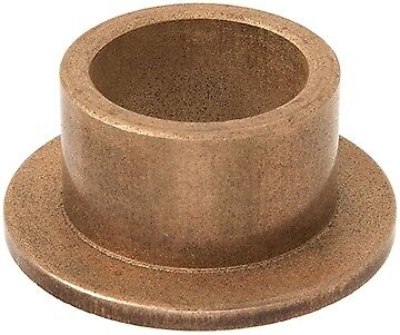 Oilite Bronze Bush Flanged 8mm bore  x 12mm  OD x 16mm long (16 x 2 Flange)