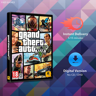 Grand Theft Auto V 5 for PC - Full Game - Rockstar Account - Instant Delivery