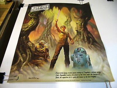 """Star Wars """"EMPIRE STRIKES BACK"""" 1980 Coca Cola Set of 3 Posters - Rolled NM"""