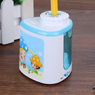 PVC Mini Automatic Electric Pencil Sharpener Battery Operated School Stationery
