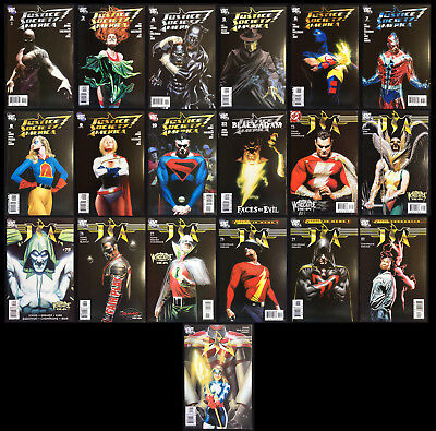 Justice Society of America #2-10, 23, 74-81 Complete Set Alex Ross Black Covers