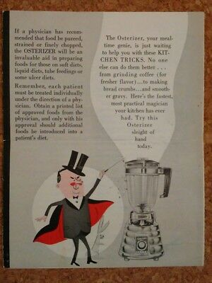 1964 Mealtime Kitchen Tricks Oster the Great Osterizer recipe booklet