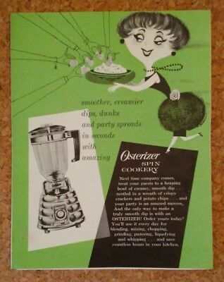 1964 Osterizer Spin Cookery dip recipe booklet
