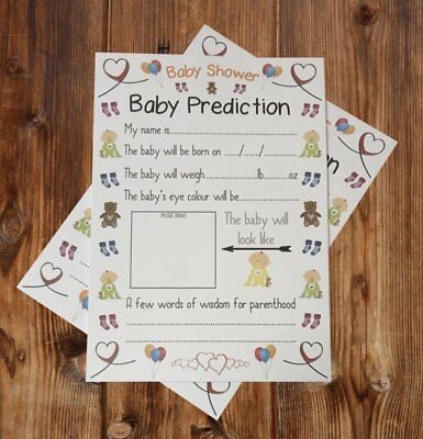 Baby Shower Game - Pack of 10 Baby Prediction / Advice Cards Keepsake