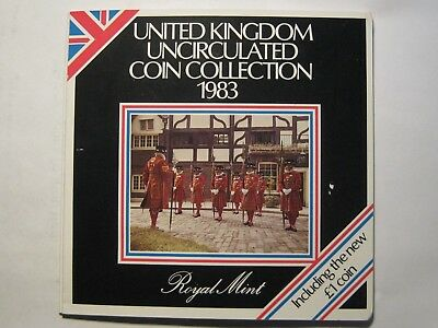 1983 United Kingdom Uncirculated Coin Collection, Royal Mint!!!  Free Shipping!!