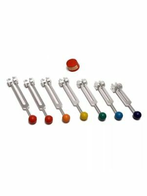 7 Chakras weighted Tuning forks with Color ball handles for healing Hot sale