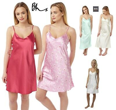 e88ffc1fd5 Womens BHS Secrets Satin Chemise Nightwear Ladies Slips Strappy Wrap  Nighties