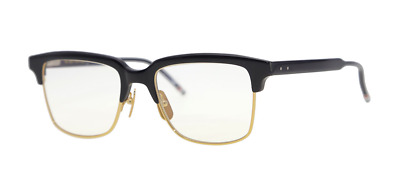 2cfeda20772 AUTHENTIC THOM BROWNE 706 B-T-NVY-GLD Sunglasses Navy Shiny 18K Gold ...