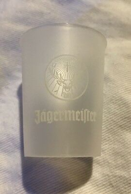 New Jagermeister Frosted Plastic Shot Glasses - 100 Count Two Packs Of 50