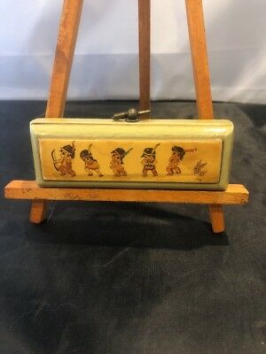 """Antique Native American Indian Dance Wall Art 4.75"""" Wide"""