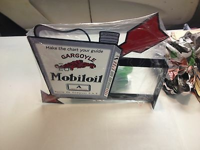 Old Style Mobil Gargoyle A Arrow Double Sided Service Station Oil Can Sign
