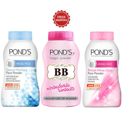 Pond's BB Magic Powder Oil & Blemish Double UV Control Cool Blue Sweet Pink 50g