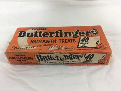 Vintage Empty Butterfinger Halloween Candy Box Curtiss Trick or Treats 1958